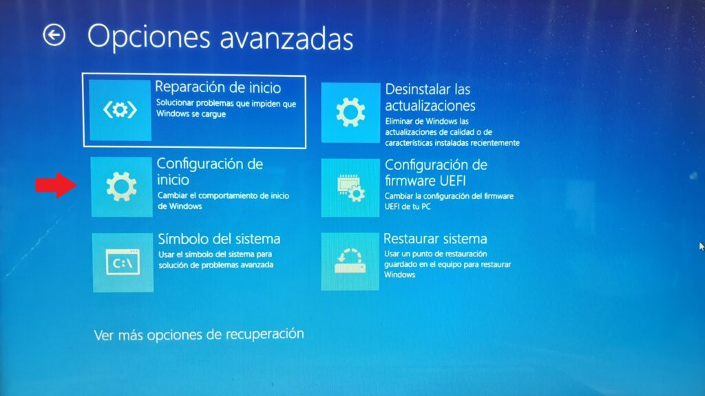 Configuración de inicio windows 7
