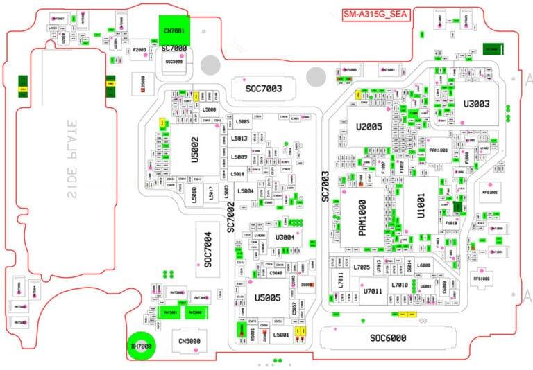 Descargar diagrama del Samsung A31 SM-A315F GRATIS en PDF