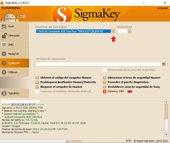 FRP tcl 5133a sigma